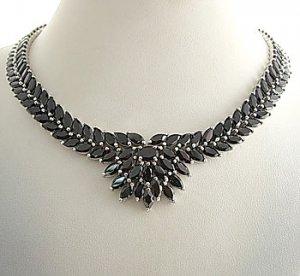 #204. 925 Silver with Genuine Garnet Necklace