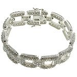 White CZ with 925 Sterling Silver Bracelet