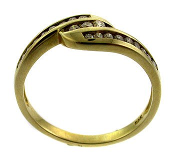 #106.  Genuine Diamond 9k Gold Ring