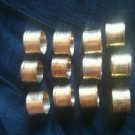 Brass Napkin rings set of 12