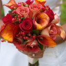 custom made Bridal Bouquet, bootnier, bride's maid bouquets