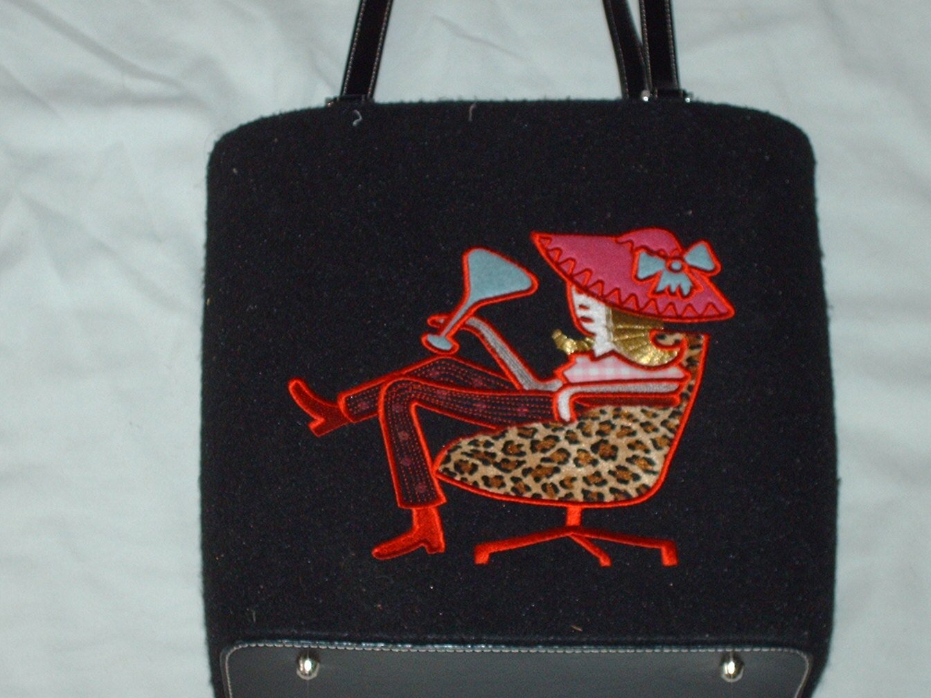 Red Hat Martini Lady Purse Handbag