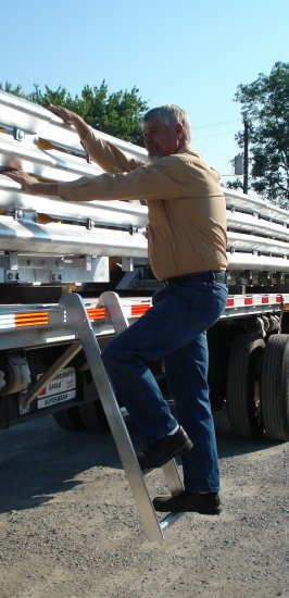 Eco Semi Flatbed Truck Trucker Ladder Pro Step Prostep