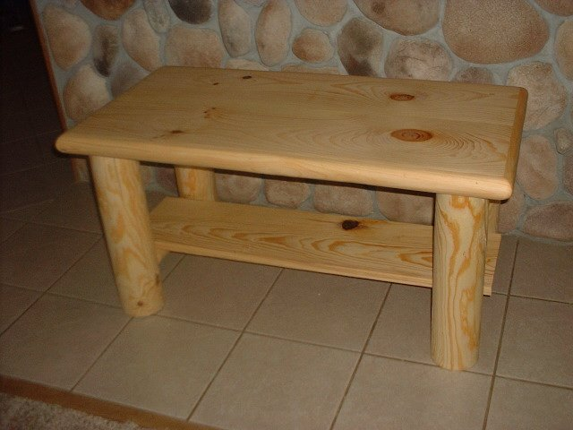 Rustic log style coffee table