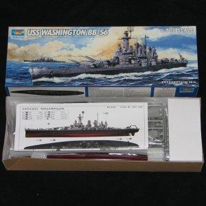 Trumpeter 1:700 USS Washington BB-56
