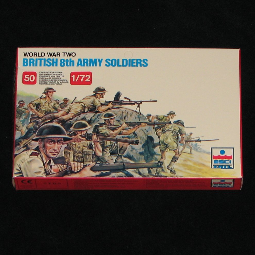 Esci Ertl WW2 British 8th Army Soldiers 1:72