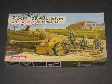 Dragon 1:35 7.5cm PaK 40 Late Type w/Fallschirmjäger Anzio 1944