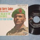 NM/VG++ 45 w/PS-BARRY SADLER-BALLAD OF THE GREEN BERETS