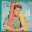 PS ONLY--PAUL ANKA--SUMMER'S GONE--1961--ABC-Par 10147