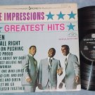 THE IMPRESSIONS GREATEST HITS-NM/VG++ Canada LP-Sparton