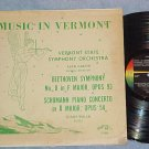 VERMONT STATE SYMPHONY ORCHESTRA--Diane Walsh--'60's LP