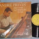 ANDRE PREVIN PLAYS THE SONGS BY VERNON DUKE--NM 1959 LP