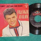 45 w/PS-FRANKIE AVALON-TWO FOOLS--1959--Chancellor 1051