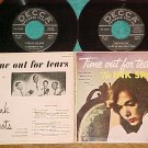Dbl EP w/PS-THE INK SPOTS-TIME OUT FOR TEARS-1956-Decca