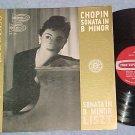 MARISA REGULES-Chopin and Liszt Sonatas--Stereo 1959 LP