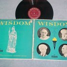 WISDOM--Vol 2--Talks with famous intellectuals--1961 LP