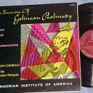 FAVORITES OF GELINEAU PSALMODY--Gregorian Institute LP