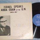 "ABBA EBAN AT THE U.N.-6/6/67-Canada ""Israel Speaks"" lbl"