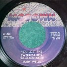 45-MARY WELLS-YOU LOST THE SWEETEST BOY-'63-Motown-VG++