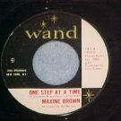 45-MAXINE BROWN-ONE STEP AT A TIME-1965-Wand 185-Copy#2