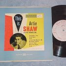 "THIS IS ARTIE SHAW-10"" VG+ 1952 LP--RCA Victor LPT-3003"