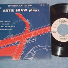 EP w/PS--ARTIE SHAW PLAYS--'50's--Royale 274--VG++/VG+