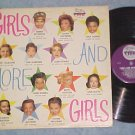 GIRLS AND MORE GIRLS--VG+ 1959 LP on Lion--12 Actresses
