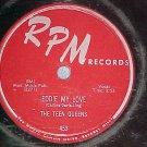 78--THE TEEN QUEENS--EDDIE MY LOVE--1956--RPM 453