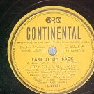 78-COZY COLE--TAKE IT ON BACK--1945--Continental C-6001