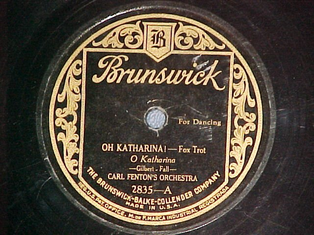 Carl Fenton's Orchestra - You Told Me To Go / Brown Eyes - Why Are You Blue
