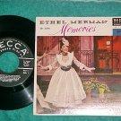 EP w/PS--ETHEL MERMAN--MEMORIES-Part 1--1955--Near-Mint