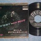 EP w/PS-ELLA FITZGERALD-SWEET AND HOT-Pt 1--1956--Decca