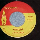 45-JOGETTES-YOUR LOVE/JOHNNY'S COMING HOME-1962-Mar 102