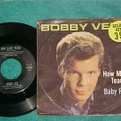 45 w/PS-BOBBY VEE--HOW MANY TEARS--1962--Liberty--NM/VG