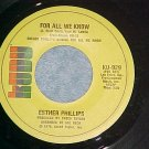 45-ESTHER PHILLIPS--FOR ALL WE KNOW--1976--Kudu 929--NM