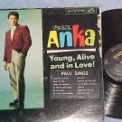 PAUL ANKA--YOUNG, ALIVE AND IN LOVE!--1963 LP w/sticker