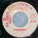 45--THE DAVE BRUBECK QUARTET--UNISPHERE--1964--WL Promo