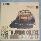EP PS Only-DAVE BRUBECK-JAZZ GOES TO JUNIOR COLLEGE-VG+
