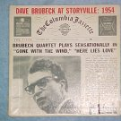 EP PS Only--DAVE BRUBECK AT STORYVILLE: 1954--Columbia