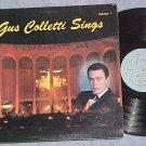 GUS COLLETTI SINGS-Vol 1-VG+ LP-Narragansett ~Autograph