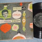 """CHRISTMAS WITH EDDIE FISHER--10"""" VG+ 1952 LP-RCA Victor"""