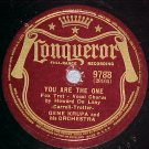 78-GENE KRUPA-YOU ARE THE ONE-1941--Conqueror 9788--VG+
