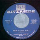 45-CANNONBALL ADDERLEY-SACK OF WOE-1960-Riverside--VG++