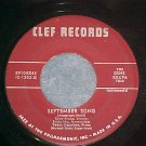 45-GENE KRUPA TRIO--SEPTEMBER SONG-1954--Clef 89104--NM
