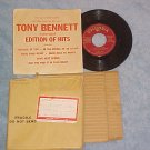 EP w/PS--TONY BENNETT EDITION OF HITS--Drink Coca-Cola