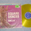 TEX DANIELS&HOE-DOWNERS--SQUARE DANCES-Stereo Yellow LP