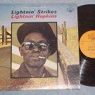LIGHTNIN' HOPKINS-LIGHTNIN STRIKES-LP-Everest/Tradition