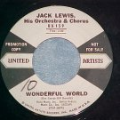 WL Promo 45--JACK LEWIS--WONDERFUL WORLD--1959--VG++
