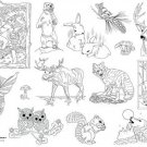 Woodland Creatures Iron on Hand Embroidery Pattern (original design)