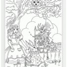Alice in Wonderland Iron on Hand Embroidery Pattern (original design)